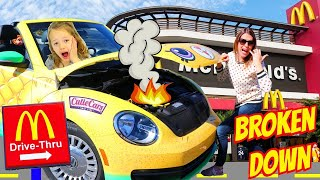 Bad Baby | BROKEN DOWN IN THE MCDONALDS DRIVE THRU!! Cutie Cars Delivery Service Parody