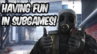 HAVING FUN WITH SUBS! 30 FRAGS AND FUNNY MOMENTS IN SUBGAMES FT. TBONE  | CSGO