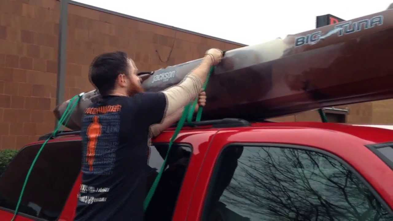 Jackson Big Tuna Kayak Hauling On Top Of A Suburban