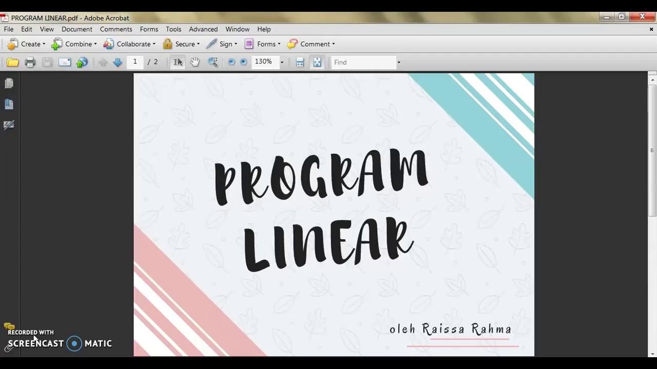Program Linear Pdf