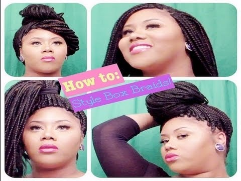 how to do your hair style how to style box braids for thinning edges temples 6418