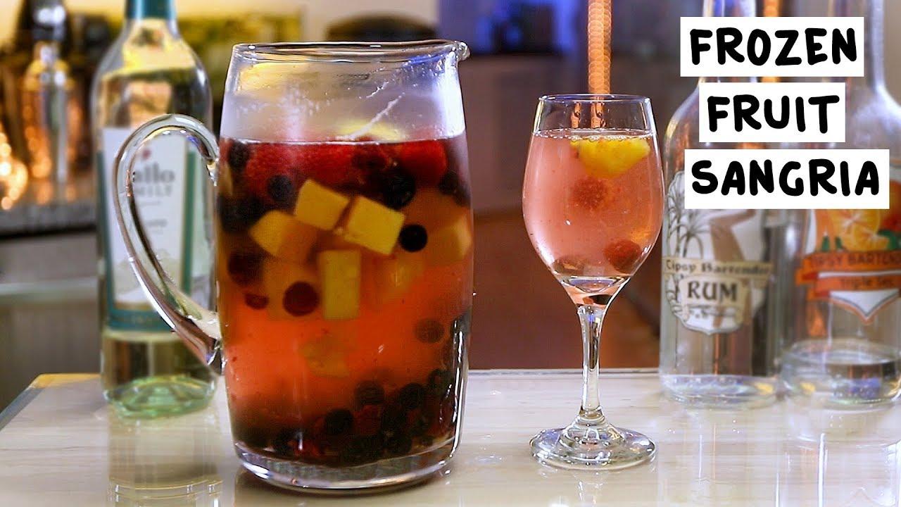 frozen fruit sangria tipsy bartender. Black Bedroom Furniture Sets. Home Design Ideas