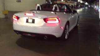 The First Exhaust Notes Of The Fiat 124 Spider
