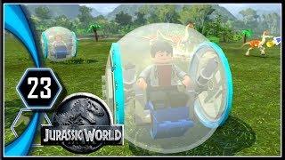 LEGO Jurassic World Gameplay PC - Gyrosphere Escape [Part 23]