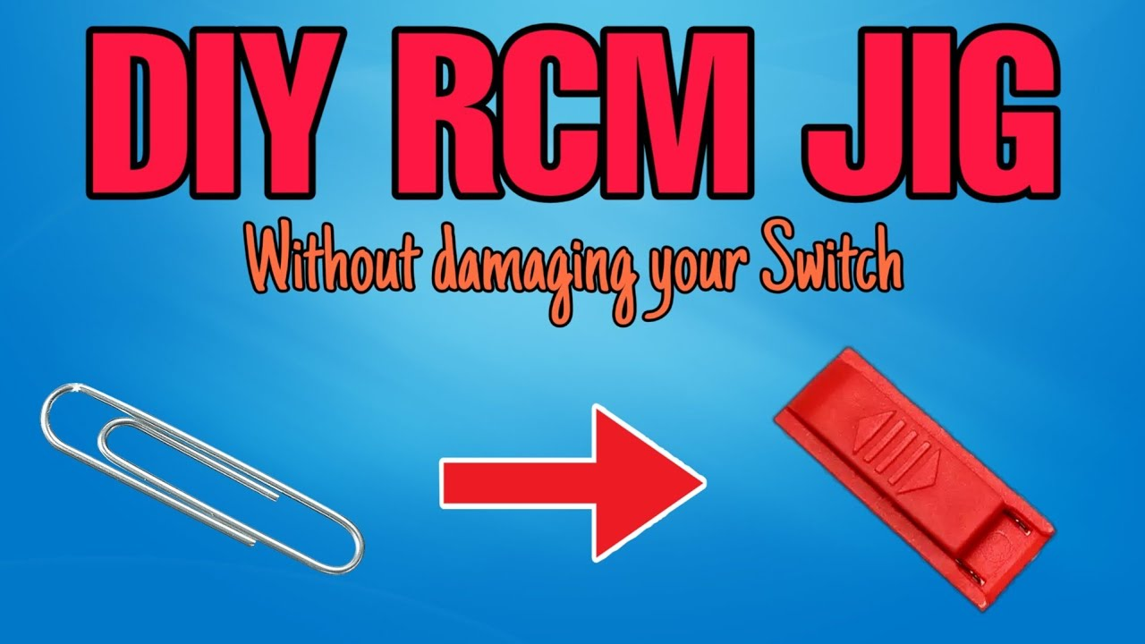 How to make an RCM JIG with household materials  NO DAMAGE TO YOUR SWITCH