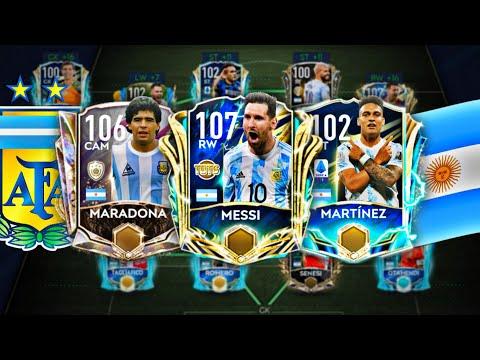 INSANE FULL ARGENTINA SQUAD BUILDER + UPGRADING ALL TO LEGENDARY | FIFA MOBILE 21
