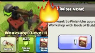 UNLOCKING BATTLE BLIMP|| BOOK OF BUILDING || CLASH OF CLANS