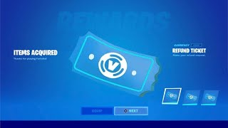 HOW TO GET MΟRE REFUNDS IN FORTNITE CHAPTER 2 SEASON 6! (REFUND TICKETS SYSTEM)