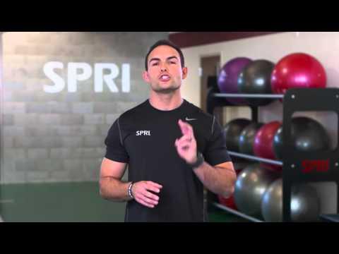 SPRI Braided Xertube: Bicep Curl Front Raise Exercise