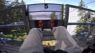 INCREDIBLE..zip-line through the clouds! Icy Strait Point Alaska - world's largest!