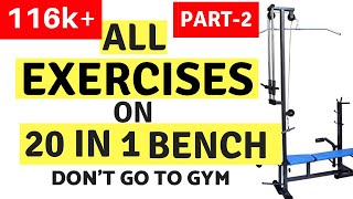 Exercises on 20 in 1 Bench - Part 2 | Fitness Hour | Vinay Kumar