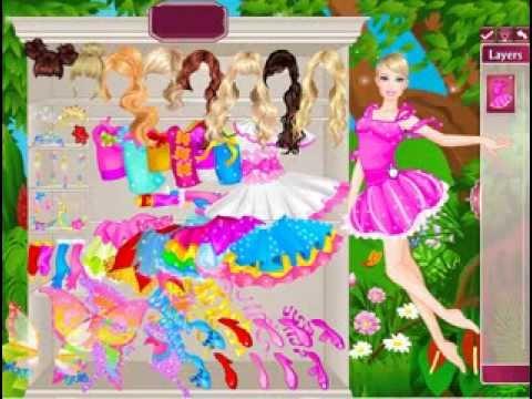 วีดีโอการเล่นเกม Barbie Fairy แต่งตัวนางฟ้าตุ๊กตาบาร์บี้