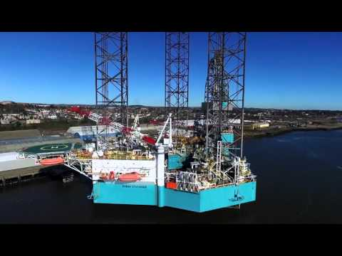Rowan Stavanger (Offshore Jack-Up Drilling Rig) - DJI Phantom 3 Drone Flight
