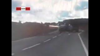 """""""Рено"""" крутит поперёк дороги 8 оборотов. Real video"""
