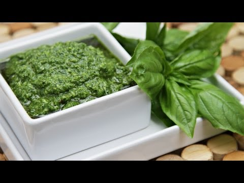 Basil Pesto -- One That Will Stay Bright Green!