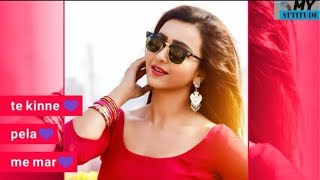 Girls Attitude status vedio || female version ||Girls boys Attitude full screen status female