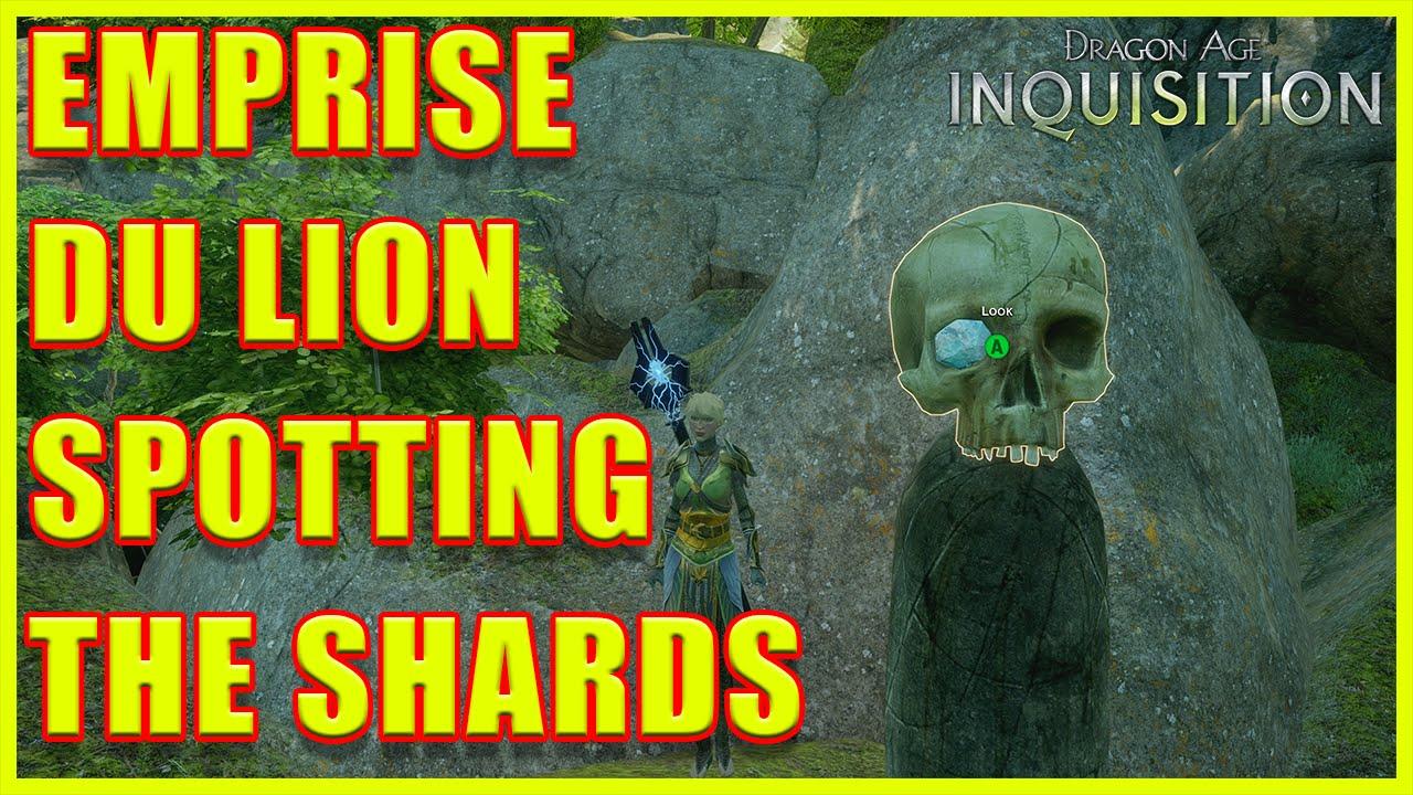 Dragon Age Inquisition Ocularum Shards In Emprise Du Lion Youtube