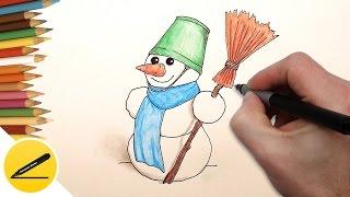 Как Нарисовать Снеговика поэтапно на Новый год - новогодние рисунки для детей(Как рисовать Снеговика. В этом видео я показываю как нарисовать Снеговика на Новый год (новогодние рисунки..., 2016-12-03T16:04:15.000Z)