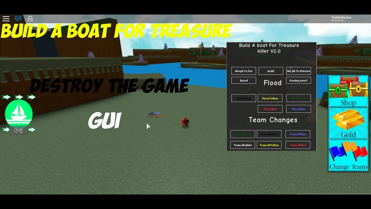 Roblox Exploiting Build A Boat For Treasure Destroy The Game