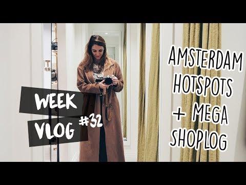Nieuwe hotspots in Amsterdam & mega shoplog // Vlog 32 // Your Little Black Book