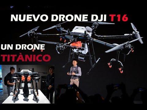 NUEVO DRONE DJI T16 DRONE TITÀNICO DE LA AGRICULTURA en ESPAÑOL