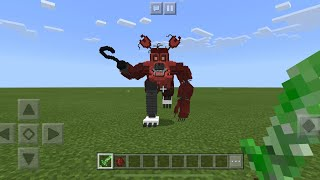 REAL FIVE NIGHTS AT FREDDYS MOD vs CREEPER SWORD in Minecraft PE