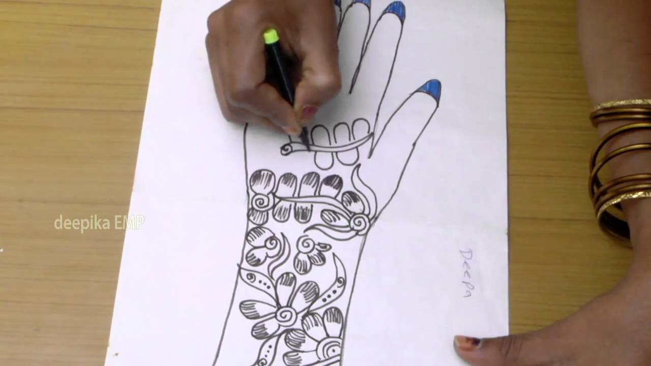 How To Draw Mehndi Designs On Paper Step By Step Deepika Recipes
