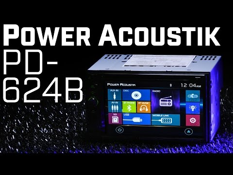 Power Acoustik PD-624HB Double DIN Bluetooth Stereo With HDMI