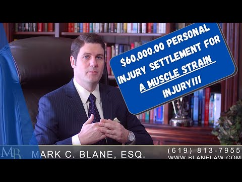 LEGAL DISCLAIMER: Please note, every injury case is different, and nothing in this video warrants any type of guaranty of a specific result, or the like. In this video, I tell a story about how I helped my San Diego personal injury client obtain $60,000.00 in settlement when they had soft-tissue type injuries (muscle strains and sprains). You see, soft tissue type injuries sound minor, but they can lead to severe injuries; in oder to obtain this type of value on what appears from the face to be a minor injury, you need medical evidence and that evidence has to be warranted and substantiated. See how I was able to help my client on this case! If you want more information you can visit http://www.blanelaw.com, which contains FREE books, blogs, articles and tons of information on your particular injury or interest; you can also call (619) 813-7955. You can also check out my Spanish Youtube Channel at: http://www.youtube.com/abogado1california
