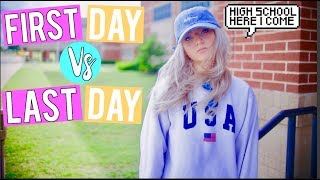 MIDDLE SCHOOL: FIRST DAY VS LAST DAY! | Kalista Elaine