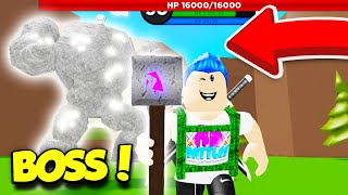 GETTING A LEGENDARY STAFF With Robux In WIZARD SIMULATOR And DEFEATING The BOSS! (Roblox)