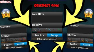 TRADING NOTHING FOR A COMPETITOR BLADE II AND A LOT OF OTHER KNIVES *CRAZIEST FAN* (ROBLOX ASSASSIN)