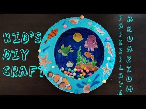 DIY LOVELY PAPER PLATE AQUARIUM TUTORIAL | KIDS ROOM DECOR DIY💖