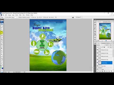 Tutorial Membuat Design Poster Tentang Go Green Menggunakan