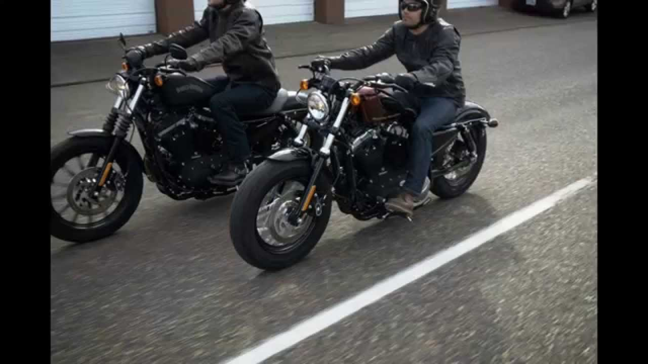 2015 Harley Davidson Sportster 48 XL1200X Review - YouTube