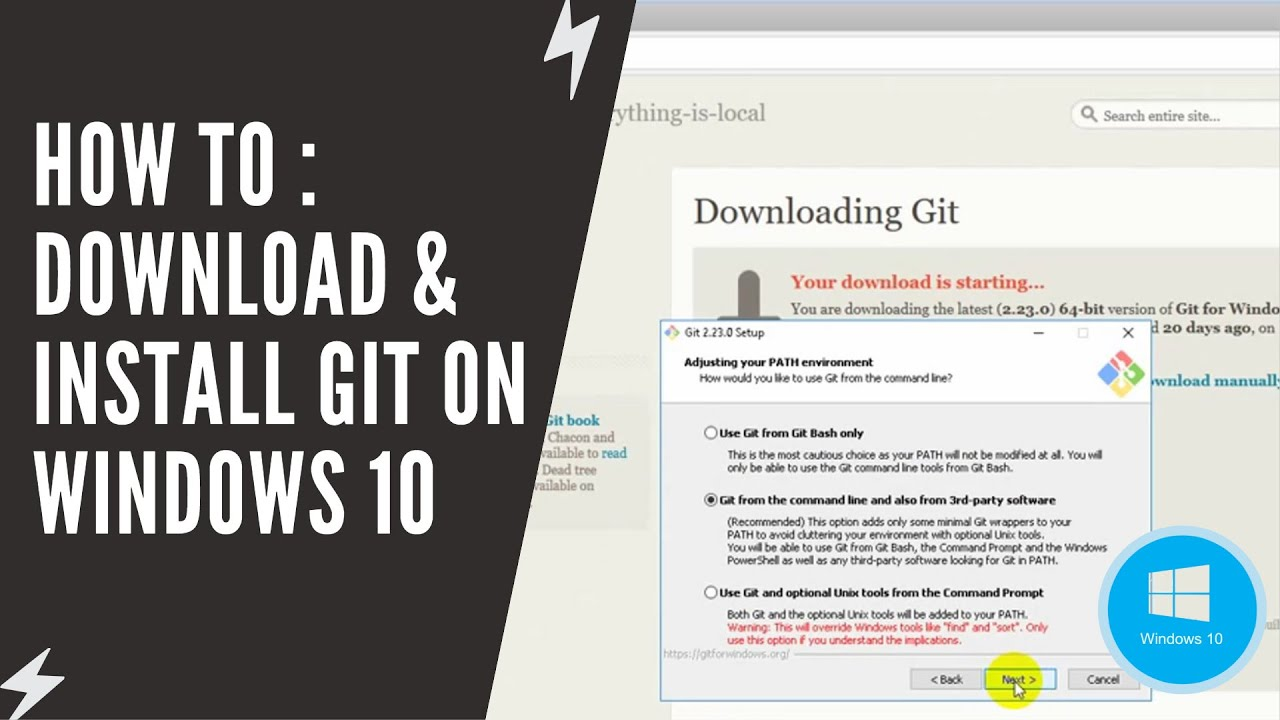How To : Download & Install Git on Windows 10 - YouTube