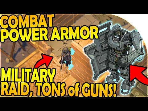 COMBAT POWER ARMOR - MILITARY RAID (TONS of GUNS) - Last Day On Earth Survival Update 1.8.1