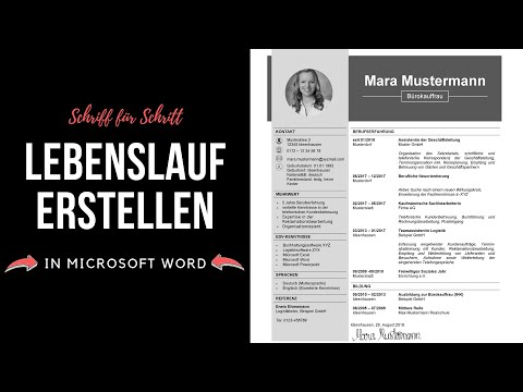 Professioneller Lebenslauf [tabellarisch, Modern, Kreativ] In Microsoft Word Erstellen - Tutorial