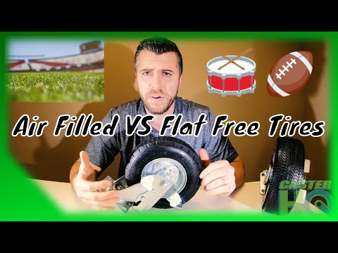 Flat Free Tires Vs Air Filled Pneumatic Tires For Casters, Carts, And Equipment - Detailed Guide