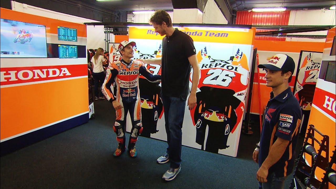Pau Gasol visits MotoGP™ Paddock - YouTube