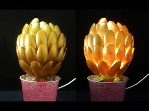 Beautiful diy plastic spoon lamp craft make you say wow diwali beautiful diy plastic spoon lamp craft make you say wow diwali decoration ideas diy lampshade mozeypictures Image collections