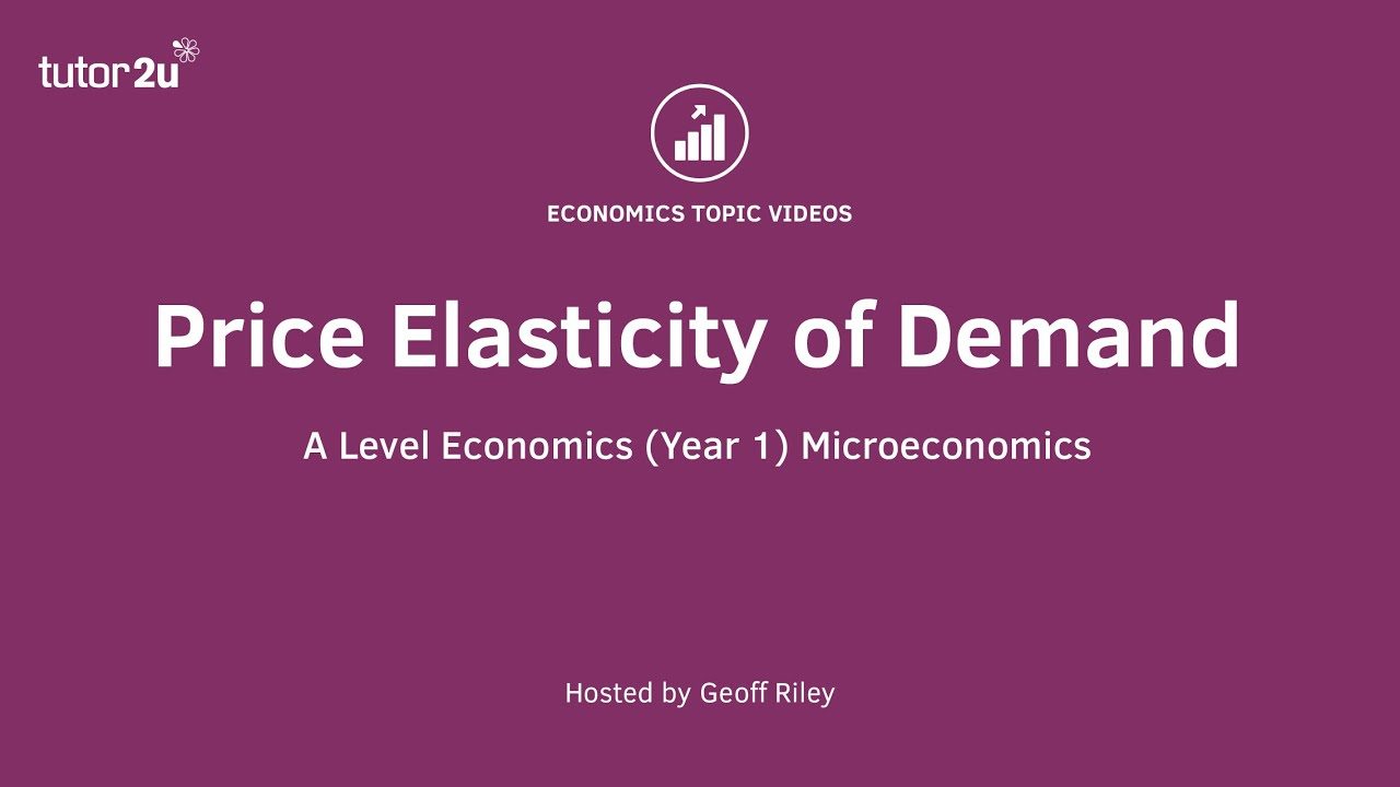 Price Elasticity Of Demand Youtube