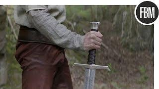 Артур пытается совладать с Экскалибуром / Меч короля Артура