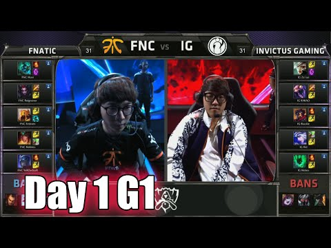 Fnatic vs Invictus Gaming | Day 1 Game 1 Group B LoL S5 World Championship 2015 | FNC vs IG D1G1