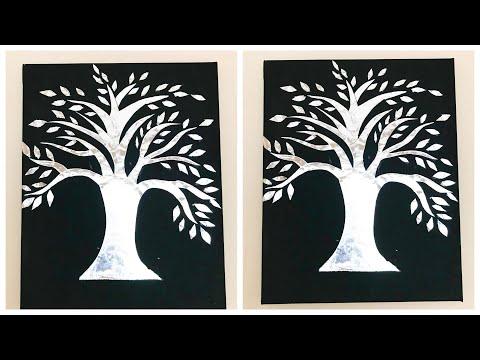 DIY Aluminum Foil Wall Decor| Beautiful Silver Tree | Home Decors | Easy Gift Ideas | #06 |
