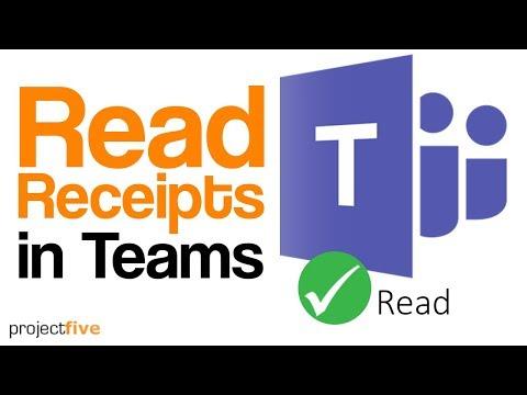 Read Receipts in Teams - YouTube