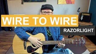 🎸WIRE TO WIRE - Razorlight - Tutorial - Gitarre