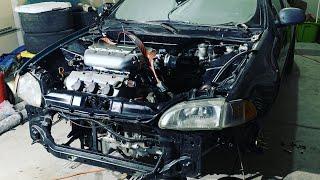 Pulling Boosted J32 from EG Civic Hatchback