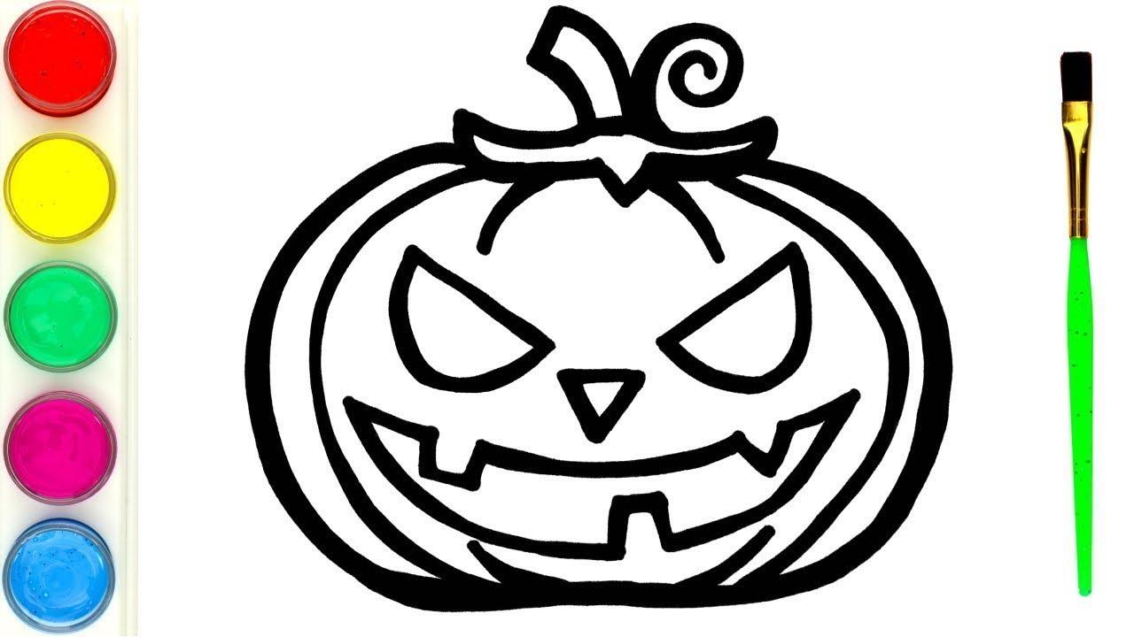 Pumpkin Halloween Belajar Menggambar Dan Mewarnai Labu Mainan Untuk Anak Youtube