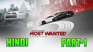 Need For Speed Most Wanted(2012)PC Gameplay Walkthrough Part 1 - Hindi Me Commentary- Ultra Graphics